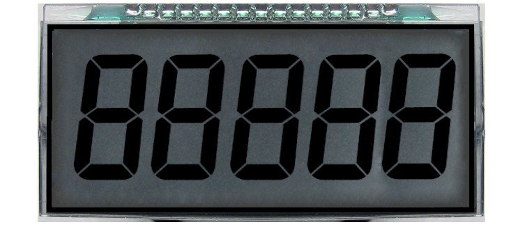 Reflective segment display